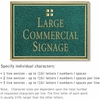 Salsbury 1510JGG2 Commercial Address Sign