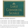 Salsbury 1510JGI2 Commercial Address Sign