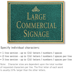 Salsbury 1510JGN Commercial Address Sign