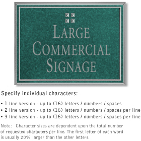 Salsbury 1510JSG Commercial Address Sign