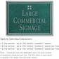 Salsbury 1510JSG2 Commercial Address Sign