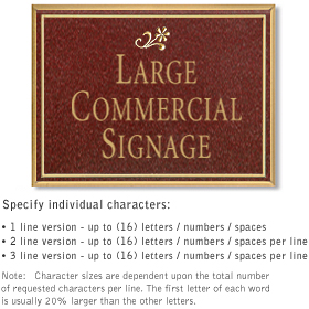 Salsbury 1510MGD Commercial Address Sign