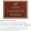 Salsbury 1510MGD2 Commercial Address Sign