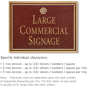 Salsbury 1510MGS2 Commercial Address Sign