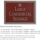 Salsbury 1510MSG Commercial Address Sign
