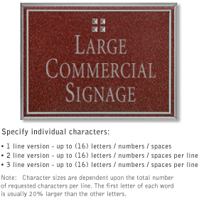Salsbury 1510MSG2 Commercial Address Sign