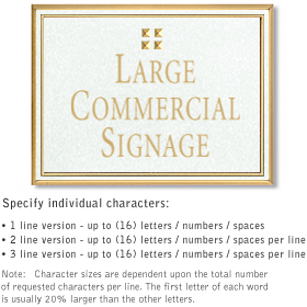 Salsbury 1510WGG2 Commercial Address Sign
