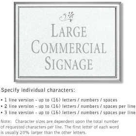 Salsbury 1510WSD Commercial Address Sign
