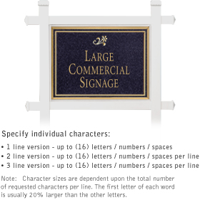 Salsbury 1511BGD1 Commercial Address Sign