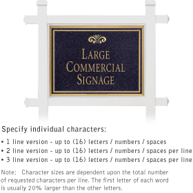 Salsbury 1511BGF1 Commercial Address Sign