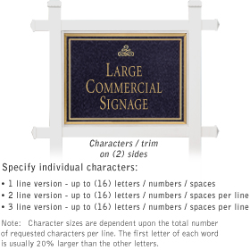 Salsbury 1511BGI2 Commercial Address Sign