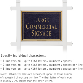 Salsbury 1511BGN1 Commercial Address Sign