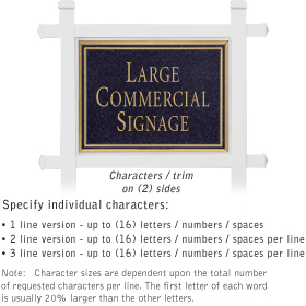 Salsbury 1511BGN2 Commercial Address Sign
