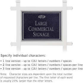 Salsbury 1511BSF1 Commercial Address Sign
