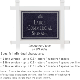 Salsbury 1511BSI2 Commercial Address Sign