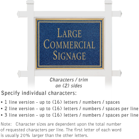 Salsbury 1511CGN2 Commercial Address Sign