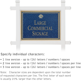 Salsbury 1511CGS1 Commercial Address Sign