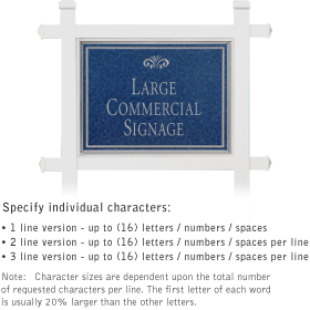 Salsbury 1511CSF1 Commercial Address Sign