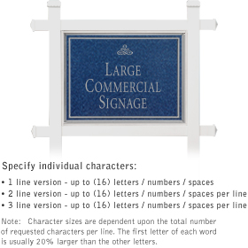 Salsbury 1511CSI1 Commercial Address Sign