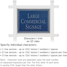 Salsbury 1511CSN2 Commercial Address Sign