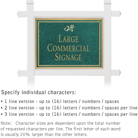Salsbury 1511JGD1 Commercial Address Sign