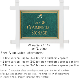 Salsbury 1511JGD2 Commercial Address Sign
