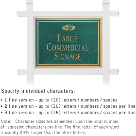 Salsbury 1511JGF1 Commercial Address Sign