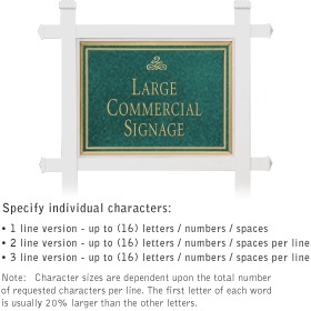 Salsbury 1511JGI1 Commercial Address Sign