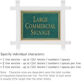 Salsbury 1511JGN1 Commercial Address Sign