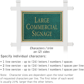 Salsbury 1511JGN2 Commercial Address Sign