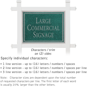Salsbury 1511JSN2 Commercial Address Sign