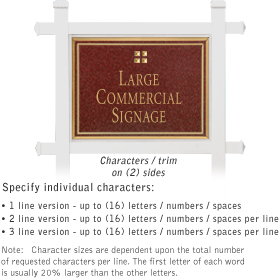 Salsbury 1511MGG2 Commercial Address Sign
