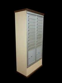 Concise Centralized Delivery System for Double Column Mailbox Cabinet (Sold Separately)