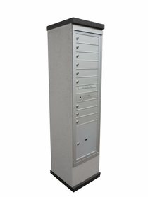 Concise Centralized Delivery System for Single Column Mailbox Cabinet (Sold Separately)