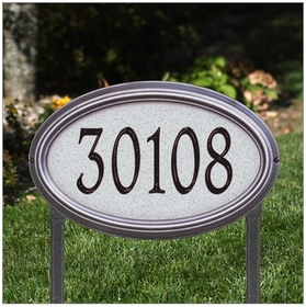 Whitehall Concord Artisan Stone Estate Lawn Address Sign - One Line