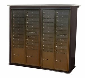Contemporary Centralized Delivery System for 2 Double Mailbox Cabinets (Sold Separately)