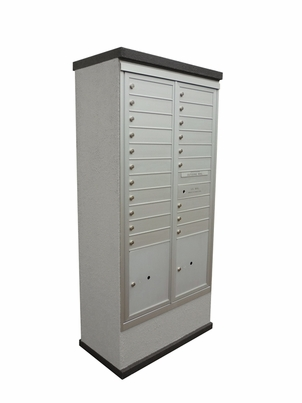 Contemporary Centralized Delivery System for Double Column Mailbox Cabinet (Sold Separately)