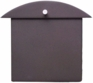 Contemporary Dark Bronze Monet Wall Mounted Mailbox