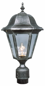Contemporary Large Post Lantern Set Lighting Fixture