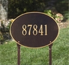 Whitehall Hawthorne Oval - Standard Lawn Address Sign - One Line