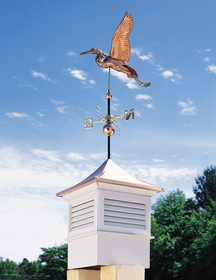 Whitehall Copper Heron Weathervane - Polished