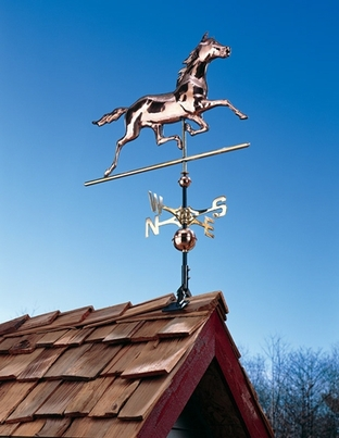 Whitehall Copper Horse Weathervane - Polished