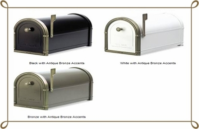 Coronado Mailbox with Antique Bronze Accents