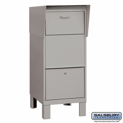 Salsbury 4975GRY Courier Mailbox Gray