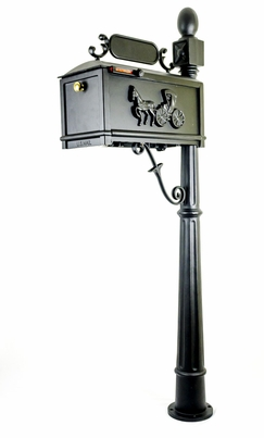Curbside Mailbox with Cast Horse and Buggy