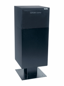 Curbside Parcel Locking Mailbox with Rear Access and Pedestal (included) - Black