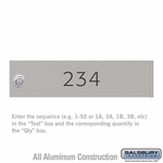 Salsbury 3474GRY Gray 4C Mailbox Locker Door Engraving Filled