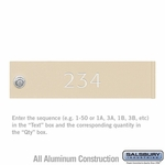 Custom Door Engraving - Regular - for Sandstone 4C Pedestal Mailbox and Parcel Locker Door