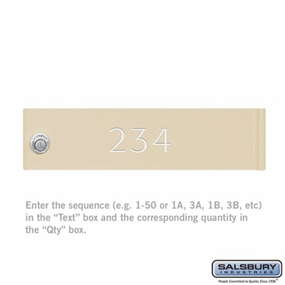 Salsbury 3368 Custom Door Engraving - Regular - CBU and CBU Locker Door