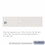 Custom Door Engraving - Regular - for White 4C Pedestal Mailbox and Parcel Locker Door